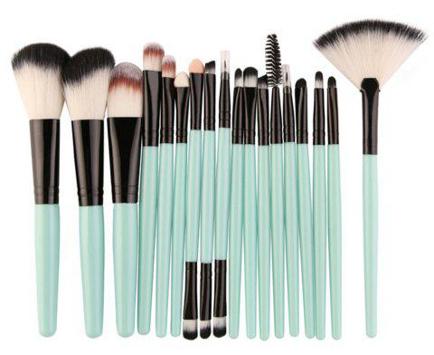 Professional Make Up Brushes Set 18 PCS - LIGHT AQUAMARINE