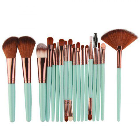 Professional Make Up Brushes Set 18 PCS - LIGHT SEA GREEN