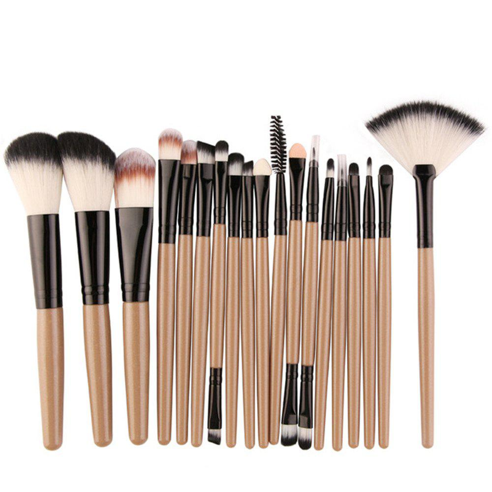 Professional Make Up Brushes Set 18 PCS - CAMEL BROWN