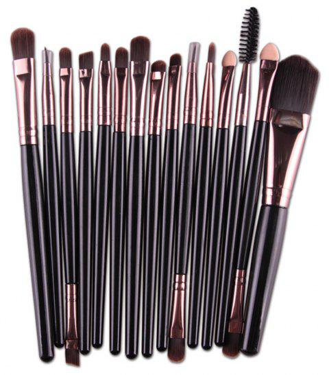 Professional Make Up Brushes Set 15 PCS - BLACK