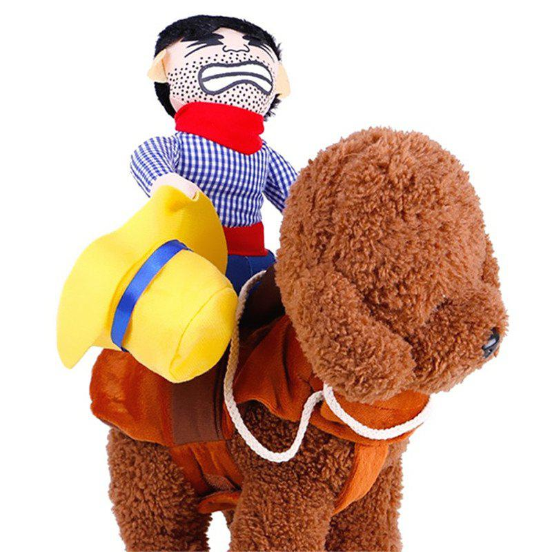 Cowboy Rider for Dogs Outfit Knight Style with for Halloween Day Pet Costume - OCEAN BLUE
