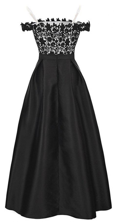 CDRMUA Ladie's  Lace Full  Dress - GRAPHITE BLACK S