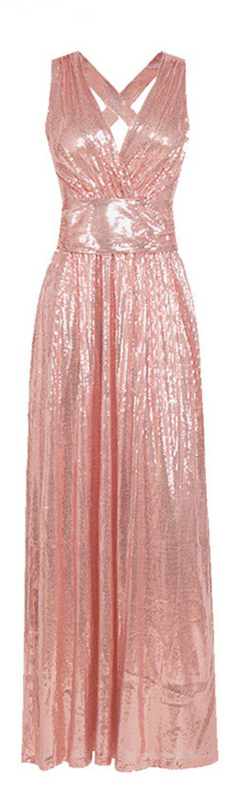 Sexy Beauty Evening Dress - FLAMINGO PINK L
