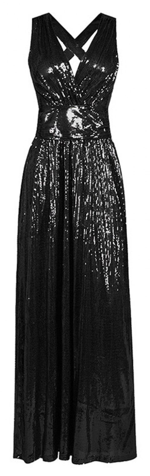 Sexy Beauty Evening Dress - GRAPHITE BLACK L