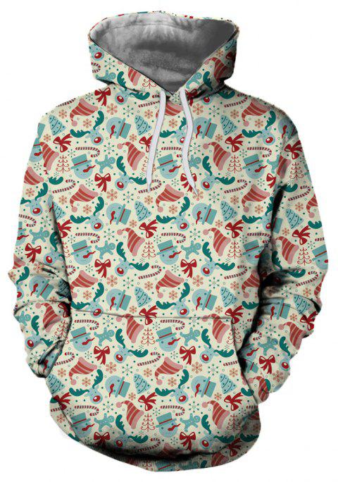 New Fashion Christmas Hat 3D Printed Hoodie - multicolor XL