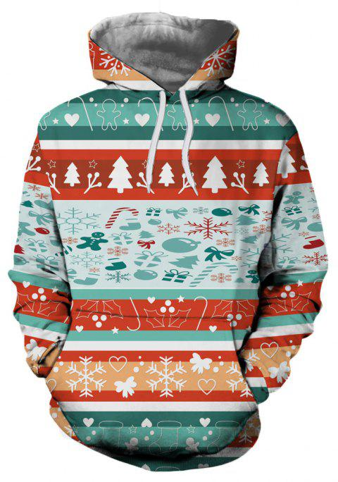 New Fashion Christmas Tree 3D Printed Hoodie - multicolor S
