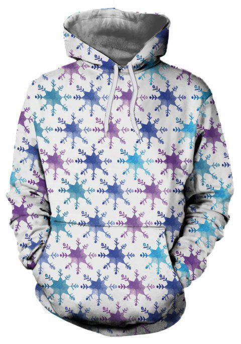 3D Fashion Sport Christmas Print Mens Hoodie - multicolor A 2XL