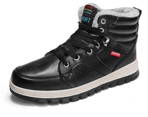 Men's Outdoor Comfortable Warm Snow Boots - BLACK EU 39