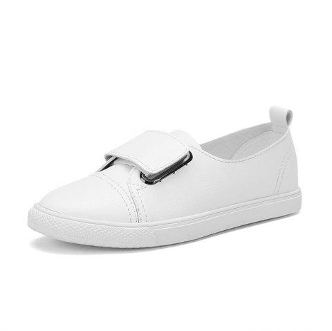 Women's  Casual Comforable Flat Leather Shoes - WHITE EU 39