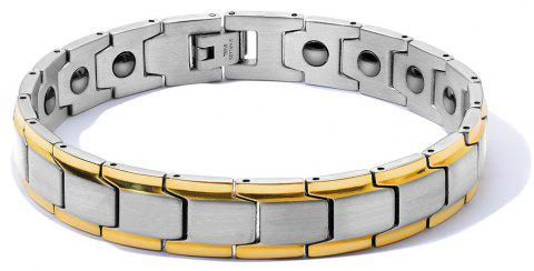 DIY Adjustable Stainless Steel Chain Magnetic Health Care Bracelet Men Jewelry - multicolor A