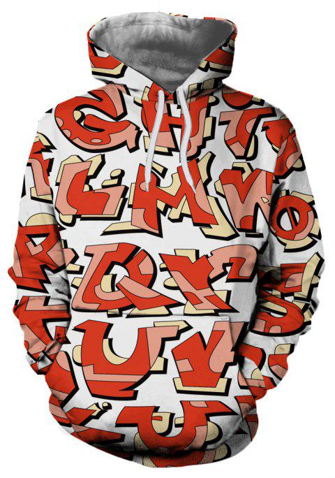 Casual Men's New 3D Printed Hooded Sweater - multicolor A 3XL