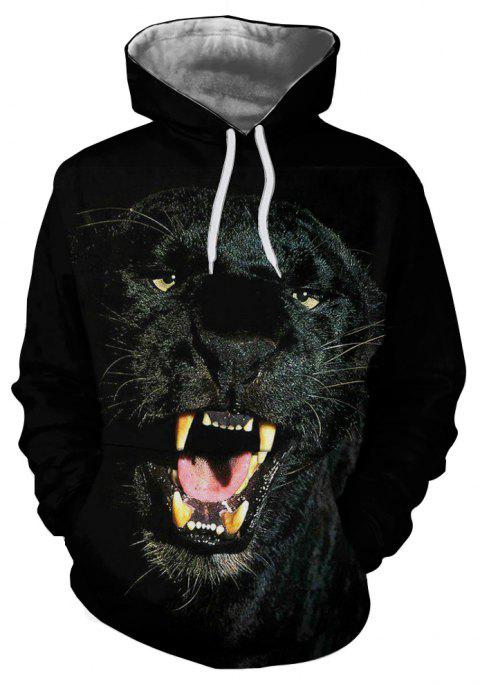 Casual Men's New 3D Printed Hooded Sweater - multicolor G 3XL