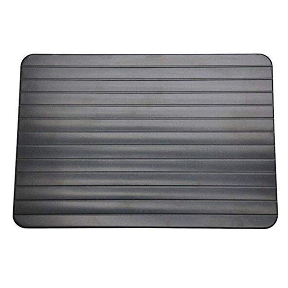 1pc Fast Defrosting Meat Tray Rapid Safety Thawing - BLACK