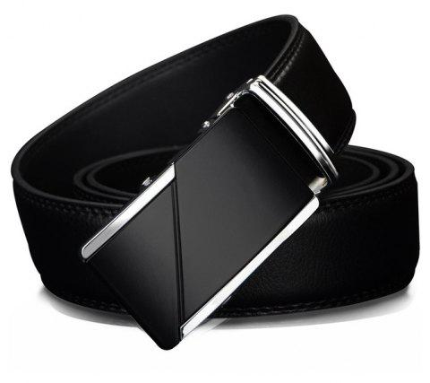 COWATHER CZ025 Leather Fashion Automatic Buckle Business Casual Belt - BLACK 115CM