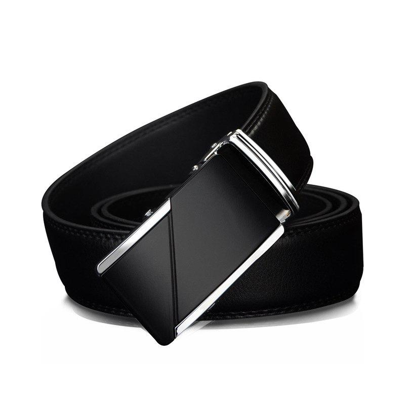 COWATHER CZ025 Leather Fashion Automatic Buckle Business Casual Belt