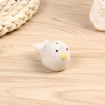 2 Pieces Creative Little Gift Bird Seasoning Jar - NATURAL WHITE 11*6.8*5.8CM