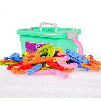 Happy Maty LY-Z1004 Wisdom Buckle Building Blocks - multicolor 82PCS