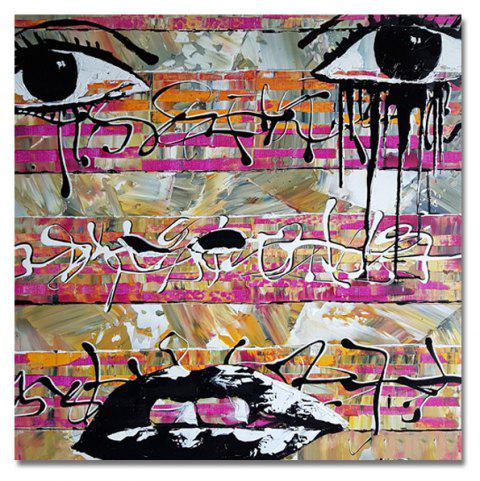 DYC Abstract Characters  Face Print Art - multicolor