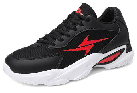 Four Seasons Breathable Tide Men's Sports Shoes - RED EU 41
