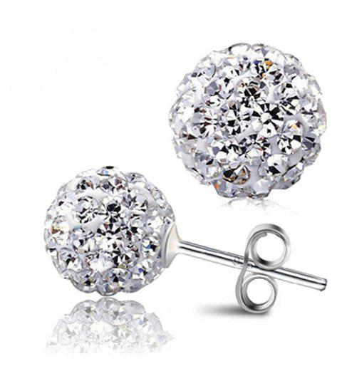 Super Flash Diamond Ladies Fashion Simple Earrings - WHITE