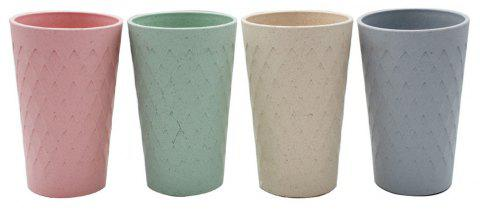 Bamboo Fiber Plastic Diamond Cup Natural Environmental Protection - multicolor
