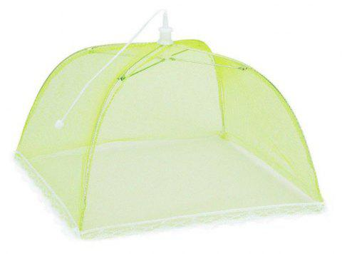 43cm Home Folding Dish Cover Fine Mesh Large Anti Fly Family Food Net Covers - GREEN