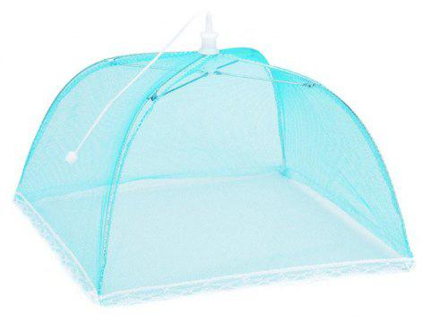43cm Home Folding Dish Cover Fine Mesh Large Anti Fly Family Food Net Covers - LIGHT BLUE