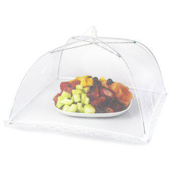 43cm Home Folding Dish Cover Fine Mesh Large Anti Fly Family Food Net Covers - WHITE