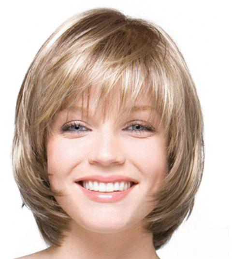 2019 Gradient Ramp Long Bob Haircut Wig In Rose Gold Dresslily