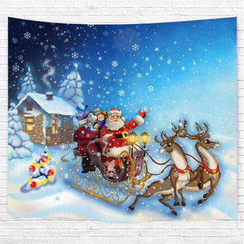 Santa Sleigh 3D Printing Home Wall Hanging Tapestry for Decoration - multicolor W153CMXL102CM