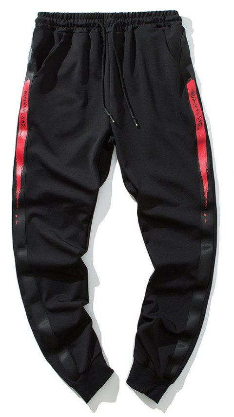 Men's Letter Print Casual Fashion Pants - RED M