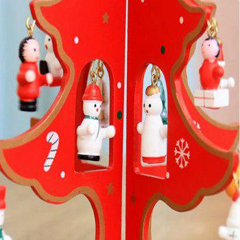 New Wooden Ddecorating Christmas Tree - RED