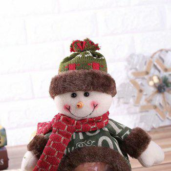 Christmas Ornament New Stereo Doll Baby Candy Bag - DEEP GREEN