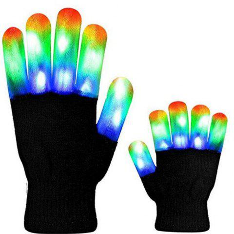 LED Glow Gloves Stage Performance Costume Props Christmas Supplies - multicolor