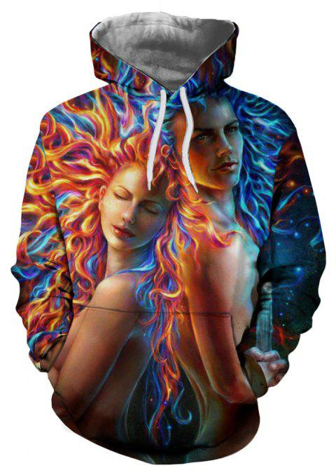 New Fashion Casual Novelty 3D Printed Hoodies - multicolor C 3XL