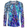 Fashion Classic Men's 3D Trend Digital Print Long-sleeved T-shirt - multicolor E 2XL