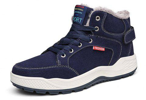 Men's Winter  Casual  Snow Boots Fashion Wild - DEEP BLUE EU 47