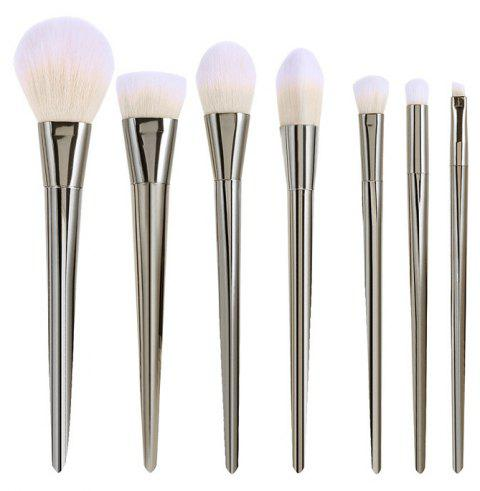 Maquillage Brush Cosmetics Foundation Ensemble d'outils de mélange - Argent