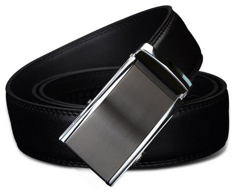 COWATHER CZ022 Business Leather Casual Automatic Buckle Belt - BLACK 125CM