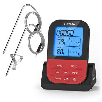 Wireless Food Thermometers with Water-Proof Dual Probe - RED