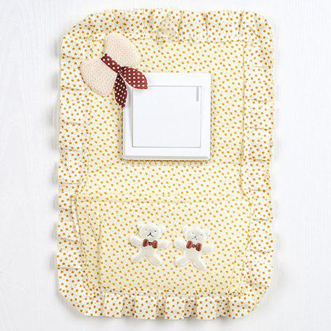 Large Size Lovely Cloth Electrical Outlet Switch Wall Paster - multicolor B 18.5*0.3*28CM