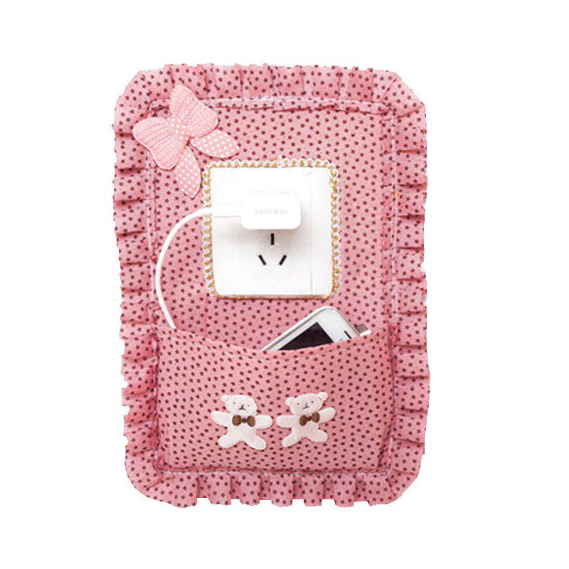 Large Size Lovely Cloth Electrical Outlet Switch Wall Paster - multicolor A 18.5*0.3*28CM