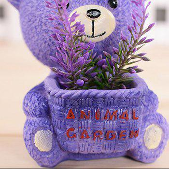 Creative Gift Purple Bear with Lavender Set - PURPLE 7.6*6.5*9.5CM