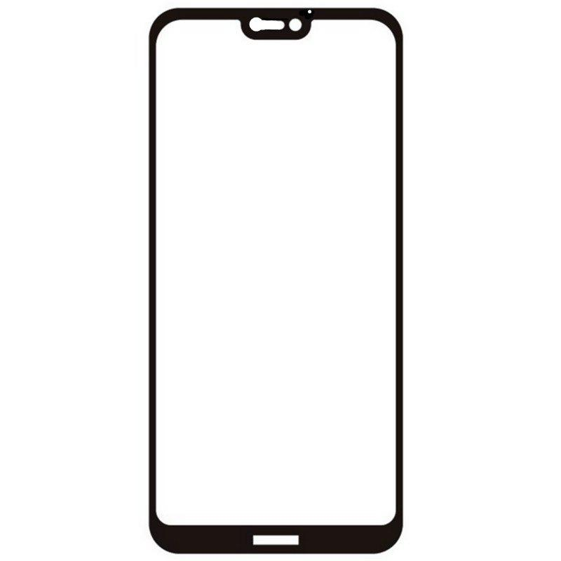 Tempered Glass Full Screen Protector for Huawei P20 Lite - BLACK