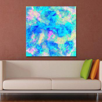 DYC Blue Abstract Print Art - multicolor