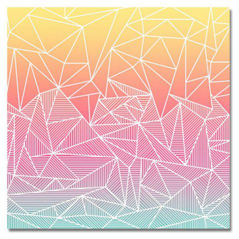DYC Trendy Triangle Print Art - multicolor