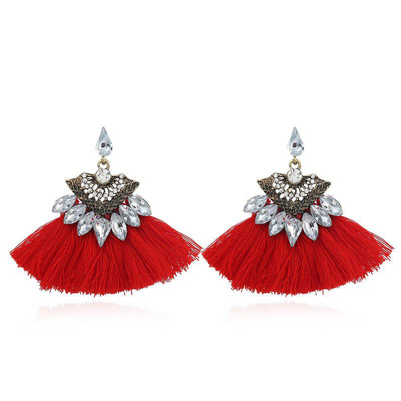 Fashion Vintage Vogue Bohemia Style Earrings Girl - RED