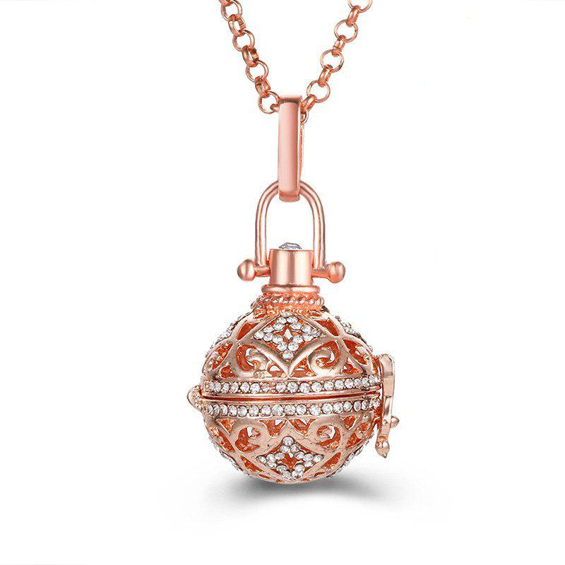 Aromatherapy Essential Oil Diffuser Piano Beads Antenatal Necklace - ROSE GOLD