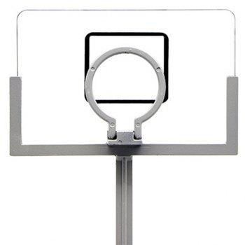 Jouet de décompression miniature de mini machine de basket-ball pliant de bureau - Gris argenté