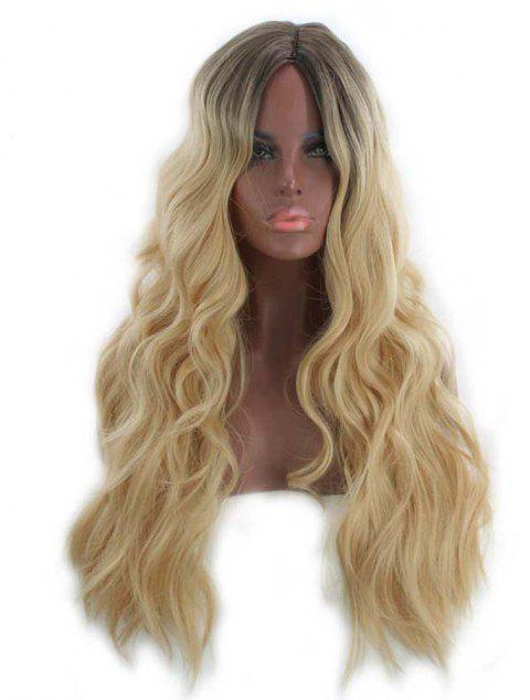 Matte High Temperature Silk Gradient Brown Long Curly Hair - TAN